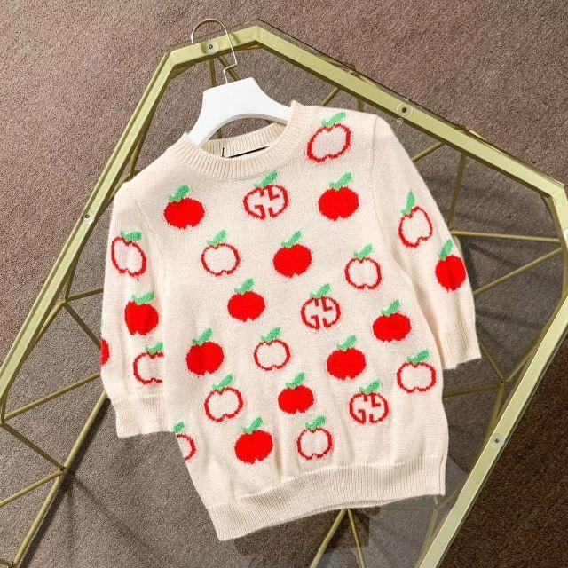 Gucci - 【GUCCI】GGアップル☆とっても可愛い半袖セーター♪の通販