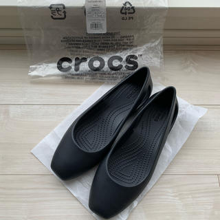 クロックス(crocs)の【美品】Women's Crocs Sloane Flat 黒(バレエシューズ)