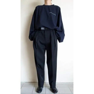 SUNSEA - stein EX WIDE TROUSERS・BLACK 19aw