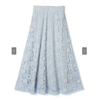 GRL - 【完売品】新作新品 GRL  フラワーレースフレアスカート  ブルー