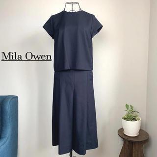 Mila Owen - 【美品】 Mila Owen ミラオーウェン セットアップ ガウチョパンツ