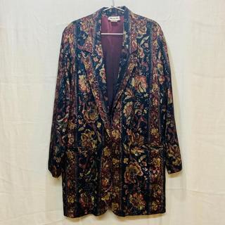 ドルチェアンドガッバーナ(DOLCE&GABBANA)のvintage jacquard flower pattern jacket(テーラードジャケット)
