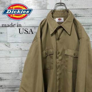 Dickies - Dickies ☆USA製 アースカラー ベージュ ワークシャツ