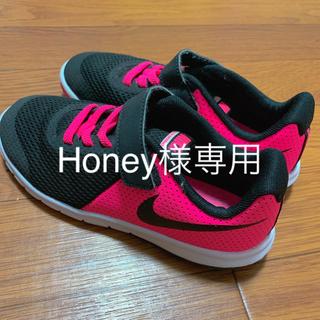NIKE - NIKE☆スニーカー☆19cm☆美品☆ナイキ靴シューズ黒ピンク