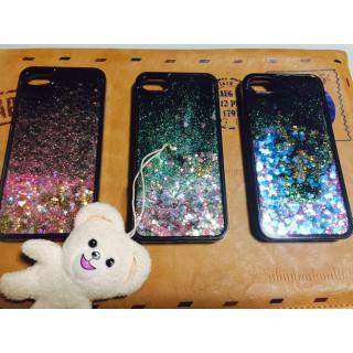 ラメグリッター 流れる iphone7 キラキラ 送料無料