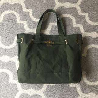 アパルトモンドゥーズィエムクラス(L'Appartement DEUXIEME CLASSE)のシータパランティカ キャンバス A4 バッグ カーキ(トートバッグ)