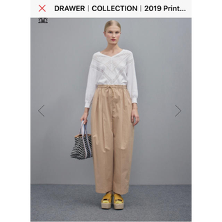 Drawer - 2019SS drawerコットンパンツ カタログ掲載品