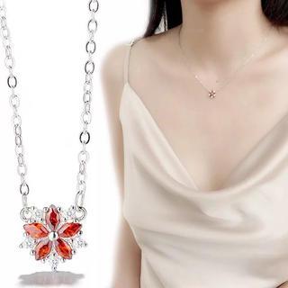 【桜】赤い桜ネックレス オシャレ 可愛い  大人気(ネックレス)