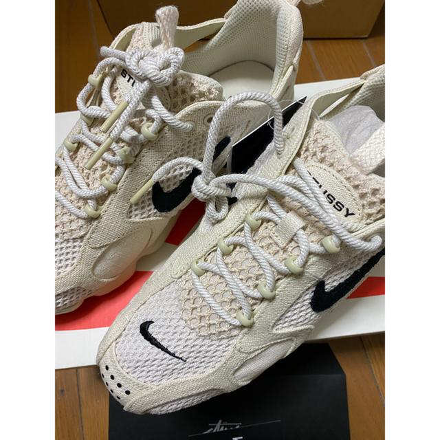 NIKE(ナイキ)の27cm☆STUSSY×NIKE AIR ZOOM / FOSSIL  メンズの靴/シューズ(スニーカー)の商品写真