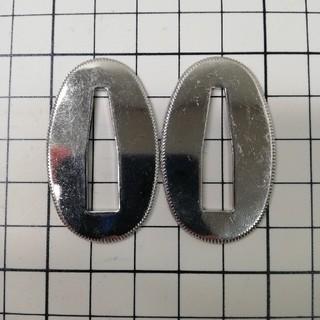 日本刀装具 切羽 厚目 銅製 銀色(武具)