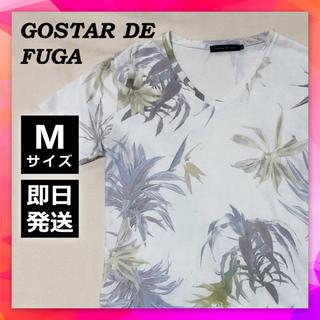 FUGA - 《激レア》ゴスタールジフーガ◎ボタニカル柄TシャツVネック花柄白Tパステルカラー