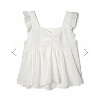 GRL - GRL フリルスリーブフレアトップス ホワイト 新作 春 夏 韓国ファッション