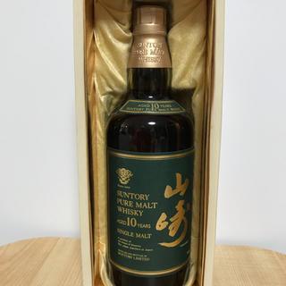 サントリー山崎10年ピュアモルトウイスキー グリーンラベル 700ml 箱あり