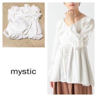 mystic - 新品 mystic ミスティック ラッフルペプラムブラウス