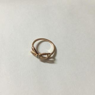 アガット(agete)のアガット リボンモチーフ ピンキーリング(リング(指輪))