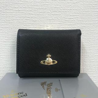 Vivienne Westwood - Vivienne Westwood 上質レザー 三つ折り がま口財布 BIACK