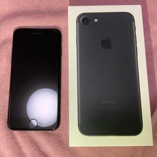 iPhone - iphone7 128GB black au SIMロック解除済み