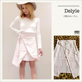 Delyle NOIR - Delyle♡ラップニーレングススカート♡ピンク