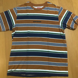 Supreme - supreme ボーダー Tシャツ  Lサイズ