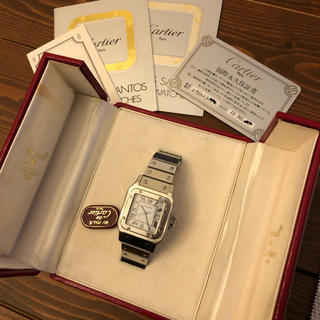 Cartier - cartier サントス ガルべ LM 永久保証書付