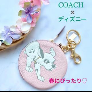 COACH - 新品・未使用 COACH コーチ コインケース 101匹 ピンク ディズニー