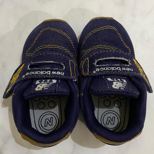 New Balance(ニューバランス)のニューバランス 996 スニーカー 13cm デニム インディゴ ブルー キッズ/ベビー/マタニティのベビー靴/シューズ(~14cm)(スニーカー)の商品写真