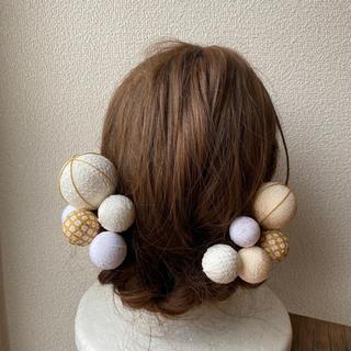 玉飾りの髪飾り【A2】(和装小物)