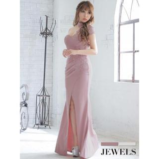 ジュエルズ(JEWELS)の新品☆JEWELS ホルターネックオフショル/スリット/キャバロングドレス(ナイトドレス)