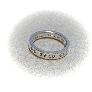 Tiffany & Co. - ティファニー 1837ロゴリング 4mm 10号☆