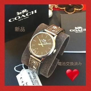 COACH - 新品 コーチ  COACH 素敵な腕時計 本革 レザー