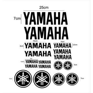 ヤマハ(ヤマハ)の【訳あり】YAMAHA ヤマハ ロゴ ステッカー 黒文字 17枚セット(ステッカー)