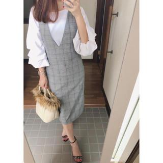 GU - グレンチェック ジャンパースカート ジャンパードレス ジーユー