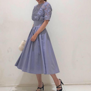 LagunaMoon - LADYオーバーレースギャザードレス