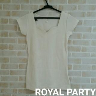 ROYAL PARTY - 【本日削除/最終値下げ】ROYAL PARTY  リブトップス