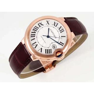 Cartier - カルティエ Cartier バロンブルー 42mm 腕時計 革バンド