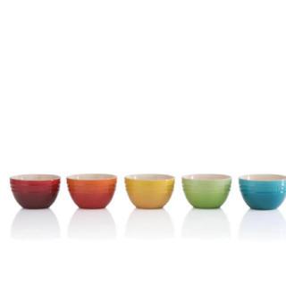 ルクルーゼ(LE CREUSET)のルクルーゼ ライスボール(S) (5個入り) レインボー(食器)