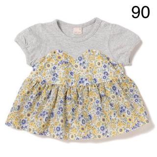 petit main - プティマイン トップス 花柄 女の子 新品 90