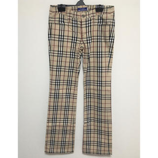 BURBERRY BLUE LABEL - BURBERRY BLUE LABEL チェックパンツ