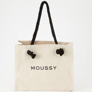 マウジー(moussy)のSOUVENIR SHOPPER新品ホワイト国内流通版 折り畳み圧縮し発送します(トートバッグ)
