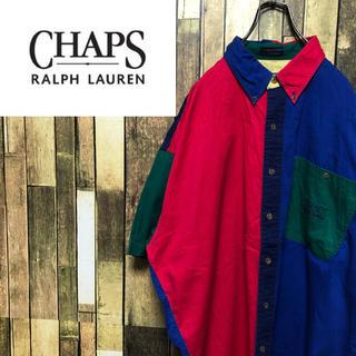 ラルフローレン(Ralph Lauren)の【激レア】チャップスラルフローレン☆刺繍ロゴ切替クレイジーパターンシャツ 90s(シャツ)