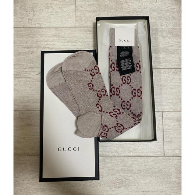 カルティエ 赤 時計 スーパー コピー | Gucci - GUCCI GGソックス silverの通販