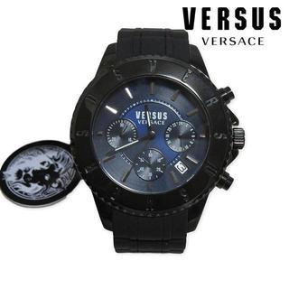 ヴェルサーチ(VERSACE)の新品 VERSUS VERSACE メンズ クロノグラフ 腕時計 ブラック(腕時計(アナログ))