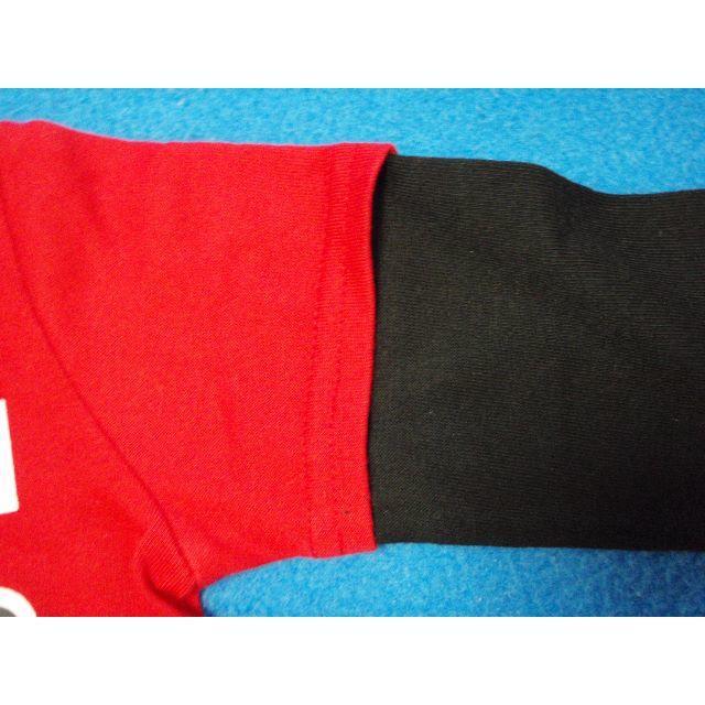 アンパンマン(アンパンマン)の元気応援価格! 100cm アンパンマンとばいきんまん長袖Tシャツ レッド キッズ/ベビー/マタニティのキッズ服男の子用(90cm~)(Tシャツ/カットソー)の商品写真
