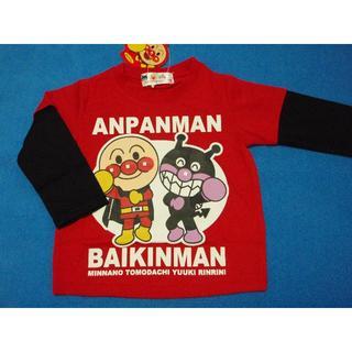 アンパンマン - 元気応援価格! 100cm アンパンマンとばいきんまん長袖Tシャツ レッド