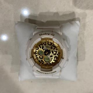 ベビージー(Baby-G)のG-SHOCK Baby-G 腕時計 白×ヒョウ柄(腕時計)