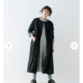 nest Robe - ネストローブ 美品 今季‼️ダブルブレスト切り替えワンピース ブラック