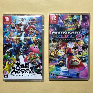 Nintendo Switch - 大乱闘スマッシュブラザーズ マリオカート8 2本セット