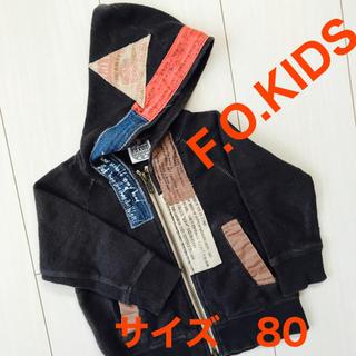 F.O.KIDS - F.O.KIDS パーカー ブラック 春物