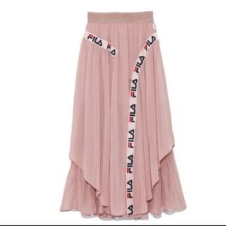 snidel - snidel♡FILA コラボ ライン スカート