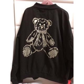 メリージェニー(merry jenny)のmerry jenny  teddy刺繍ブルゾン(ブルゾン)